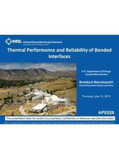 Thermal Performance and Reliability of Bonded …