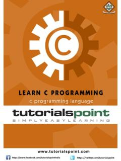 About The Tutorial - tutorialspoint.com