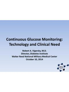 Continuous Glucose Monitoring: Technology and Clinical …