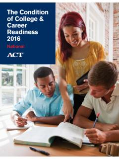 The Condition of College & Career Readiness 2016 - National