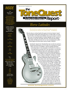 INSIDE the - The ToneQuest Report
