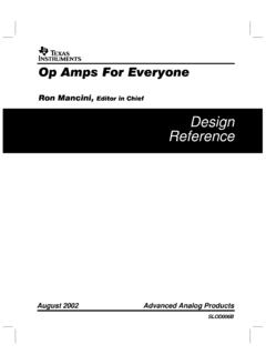Op Amps for Everyone Design Guide (Rev. B)