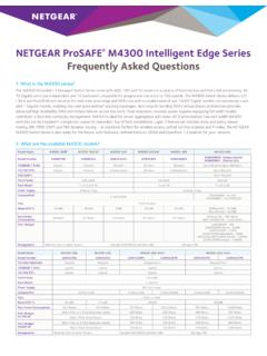 NETGEAR ProSAFE M4300 Intelligent Edge Series Frequently ...
