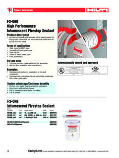 FS-ONE High Performance Intumescent Firestop Sealant