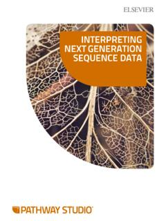 InterpretIng next generatIon Sequence Data - Elsevier