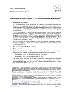 Designation and notification of conformity assessment bodies