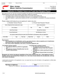 Application for Disabled Veteran and Purple Heart ...