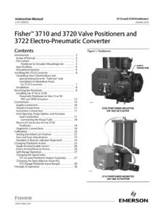 Fisher 3710 and 3720 Valve Positioners and 3722 Electro ...