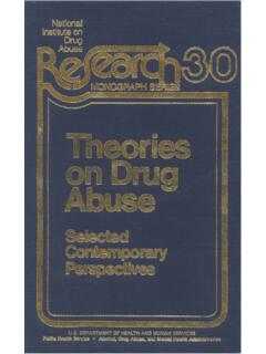 Theories on Drug Abuse - Selected Contemporary ...