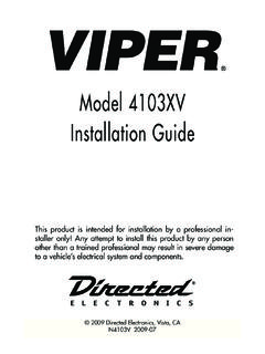 Model 4103XV Installation Guide - …