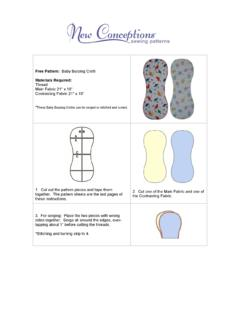 Free Pattern: Materials Required - New Conceptions