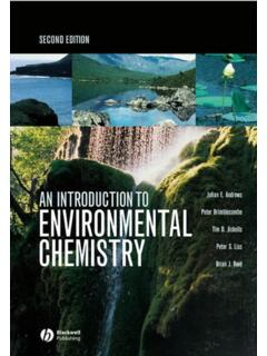 An Introduction to Environmental Chemistry - REMONDINI