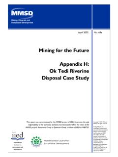 Mining for the Future. Appendix H: Ok Tedi Riverine ...