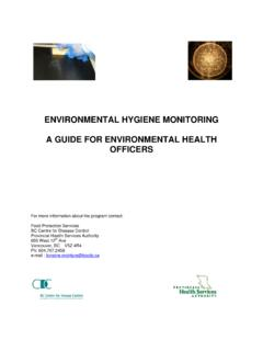 ENVIRONMENTAL HYGIENE MONITORING A …