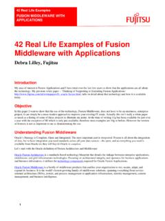 42 Real Life Examples of Fusion Middleware with …