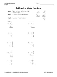 Subtracting Mixed Numbers Worksheet 1 - tlsbooks.com