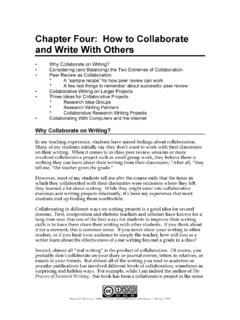Chapter Four: How to Collaborate and Write With …