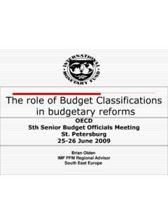 The role of Budget Classifications in budgetary …