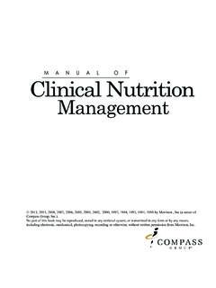Manual of Clinical Nutrition - Weebly