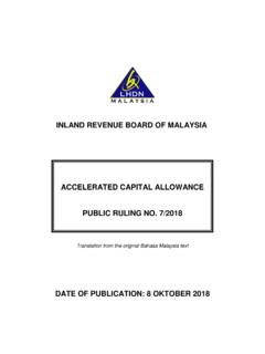 INLAND REVENUE BOARD OF MALAYSIA ACCELERATED …