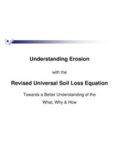Revised Universal Soil Loss Equation