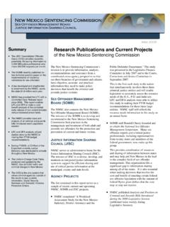 Summary Research Publications and Current Projects of the ...