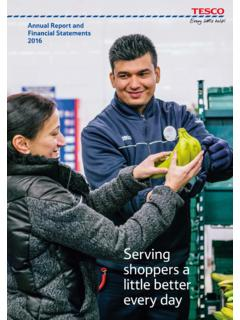 Annual Report and Financial Statements 2016 - Tesco PLC