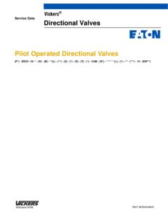Service Data Directional Valves Pilot Operated ... - Eaton