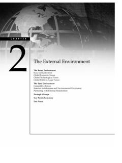 The External Environment - Cengage Learning