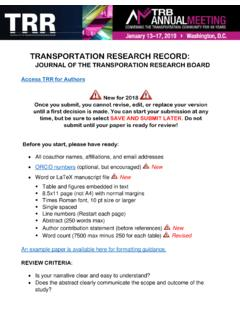 TRANSPORTATION RESEARCH RECORD