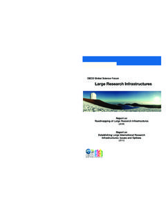 Large Research Infrastructures - OECD.org