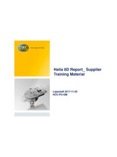 Hella 8D Report Supplier Training Material