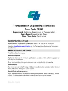 Transportation Engineering Technician - State of California