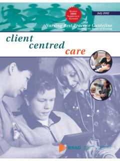 Shaping the future of Nursing clientcentredcare - …
