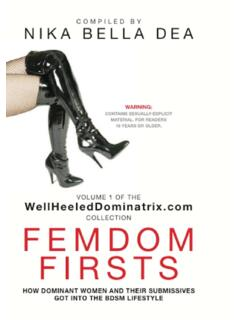 FEMDOM FIRSTS: How Dominant Women And Their …