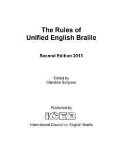 The Rules of Unified English Braille