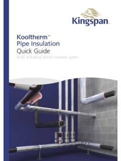 Kooltherm Pipe Insulation Quick Guide