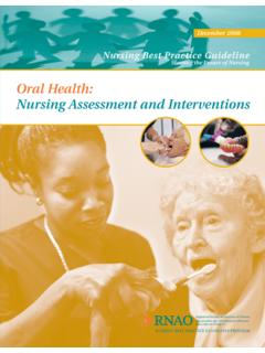 Oral Health: Nursing Assessment and Interventions