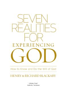 SEVEN REALITIES FOR GOD EXPERIENCING