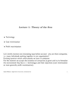 Lecture 1: Theory of the rm - willmann.com