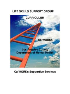 LIFE SKILLS SUPPORT GROUP CURRICULUM