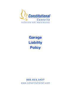Garage Liability Policy - constitutional.com