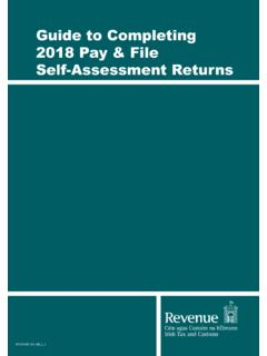 Guide to Completing 2018 Pay and File Tax Returns