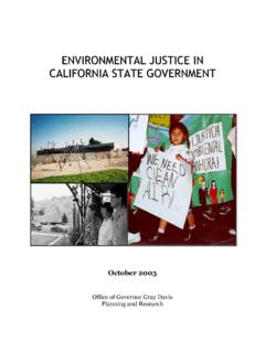 ENVIRONMENTAL JUSTICE IN CALIFORNIA STATE …