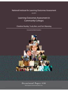 Learning Outcomes Assessment in Community …