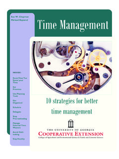 Sue W. Chapman Michael Rupured Time Management