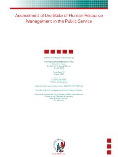 Assessment of the State of Human Resource Management …