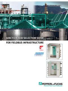 Junction Box Selection Guide for Fieldbus Infrastructure