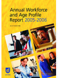 Annual Workforce and Age Profile Report 2005-2006