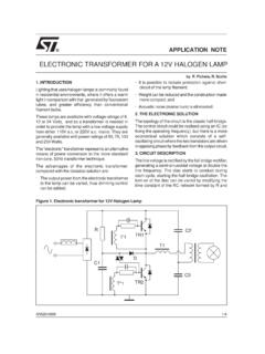 Electronic transformer for a 12V halogen lamp - …
